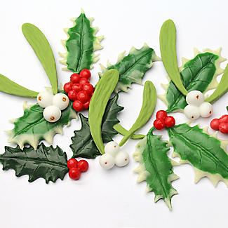 Katy Sue Designs Holly and Mistletoe Silicone Mould alt image 3