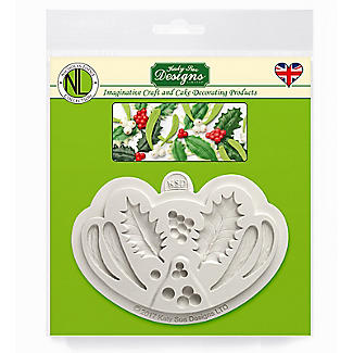 Katy Sue Designs Holly and Mistletoe Silicone Mould alt image 6