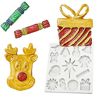 Katy Sue Designs Christmas Decorations Silicone Mould