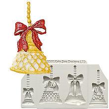 Katy Sue Designs Christmas Bells Silicone Mould