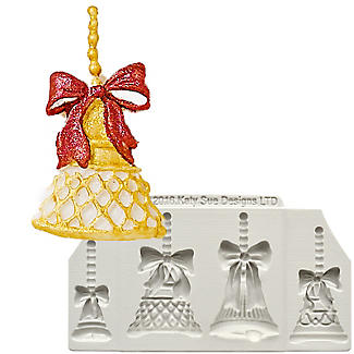 Katy Sue Designs Christmas Bells Silicone Mould
