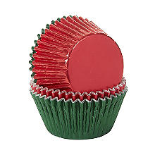 Lakeland Red and Green Foil Cupcake Cases 64 Pack