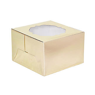 Lakeland Small Gold Presentation Box with Single-Hole Cupcake Insert alt image 2