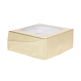 Lakeland Medium Gold Presentation Box with 4-Hole Cupcake Insert alt image 2