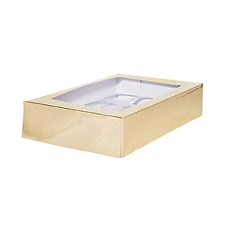 Lakeland Large Gold Presentation Box with 12-Hole Cupcake Insert
