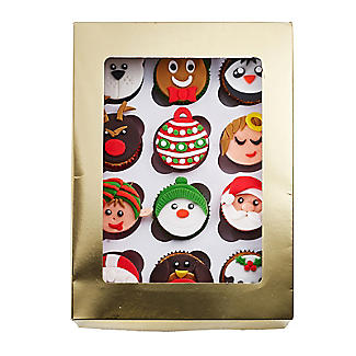 Lakeland Large Gold Presentation Box with 12-Hole Cupcake Insert alt image 4