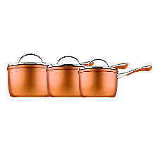 Prestige Prism 3-Piece Non-Stick Pan Set – Copper