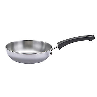 Prestige Kitchen Hacks 3-Piece Stainless Steel Nesting Frying Pan Set alt image 4