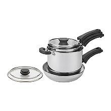 Prestige Kitchen Hacks 5-Piece Stainless Steel Nesting Pan Set