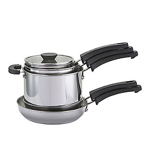 Prestige Kitchen Hacks 5-Piece Stainless Steel Nesting Pan Set alt image 3