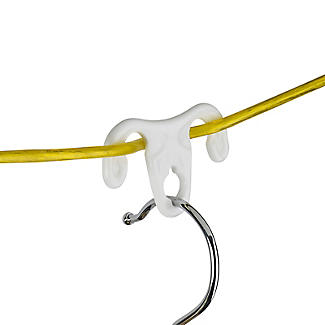 12 Washing Line Clothes Hanger Hook Ups