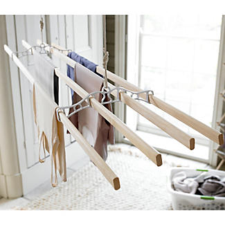 Traditional Wooden Ceiling Pulley Indoor Clothes Airer 7m