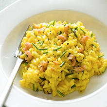 Potted shrimp risotto