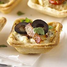 Goats Cheese & Black Olive Mini Tartlets
