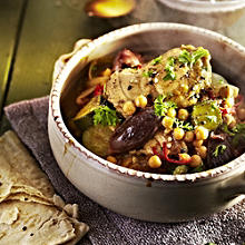 Spiced Chicken with Dates and Chickpeas