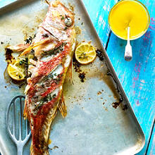 Grilled Red Mullet with Saffron Aioli