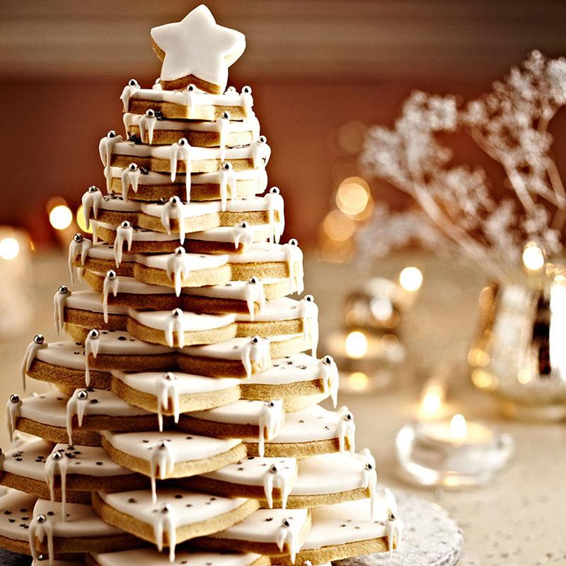 Almond Christmas Cookie Tree