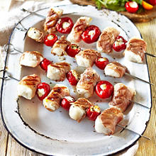 Cod Loin, Prosciutto & Sweet Red Pepper Skewers