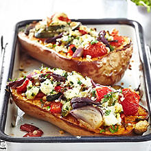 Stuffed Squash with Goats' Cheese