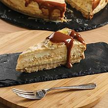 Salted caramel & banana cheesecake