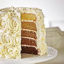 Ombré-Kuchen mit Zuckerguss aus Butterkaramell