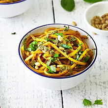 Butternut Squash Noodles With Fresh Pesto