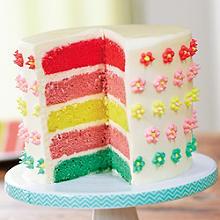 Strawberries & Cream Layer Cake