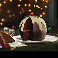 Christmas Pud Hemisphere Cake