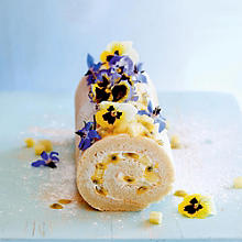 Lucy Bee's Pineapple & Passion Fruit Roulade