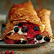 Buckwheat Crêpes With Raspberry Compote