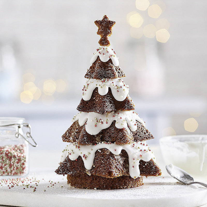 How To Make A D Christmas Tree Cake