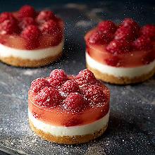 Mini PopaBall Rose Gold Shimmer Raspberry Cheesecakes
