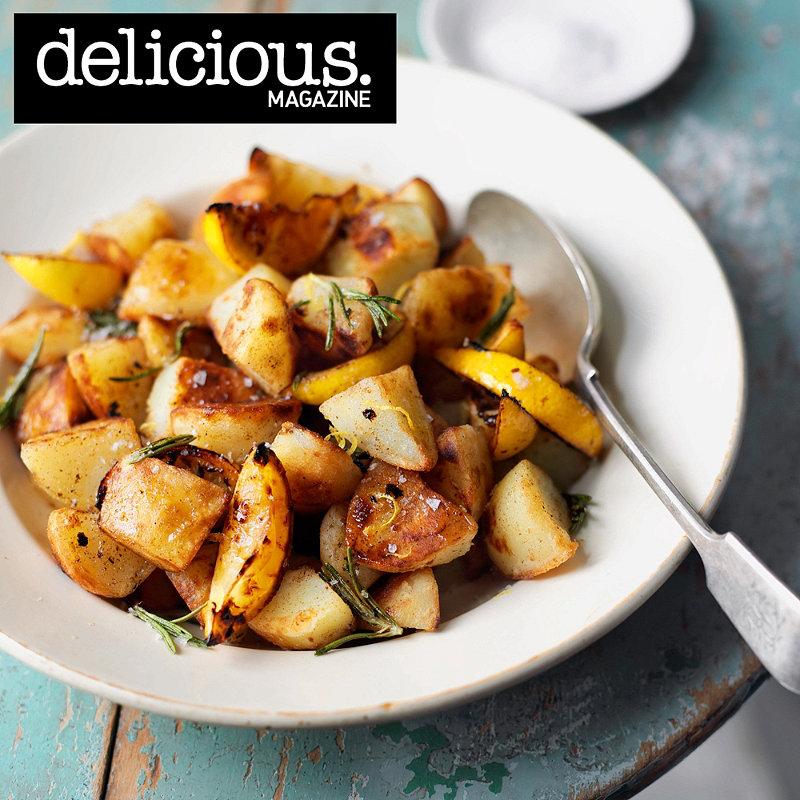 Chipped rosemary and lemon potatoes