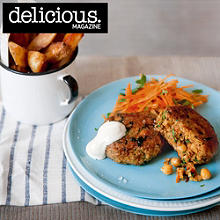 Moroccan lamb, chickpea and carrot burgers
