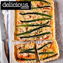 Salmon and asparagus tart